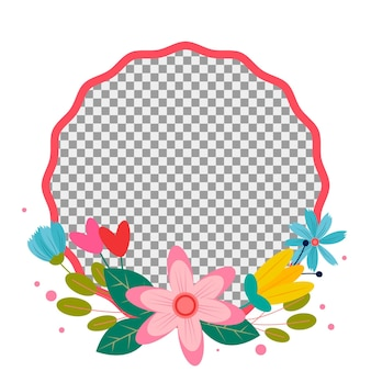 Gradient floral facebook frame