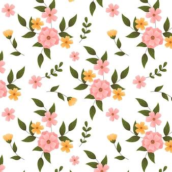 Градиентный цветочный узор в персиковых тонах