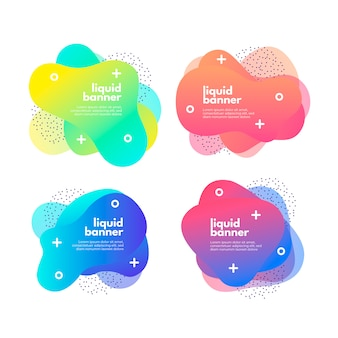 Gradient fluid banner collection