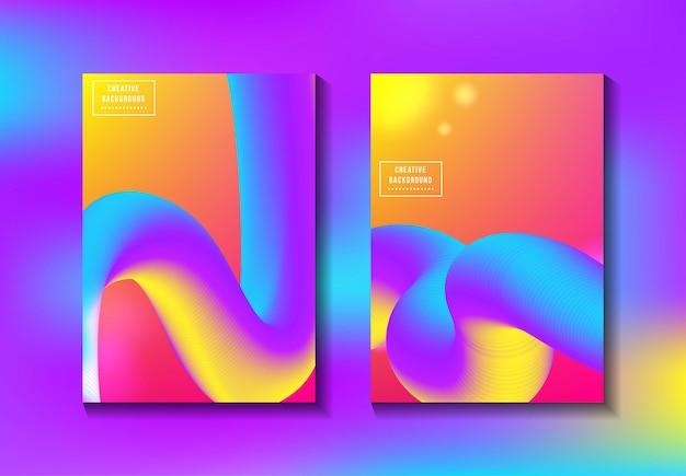 Gradient fluid cover book
