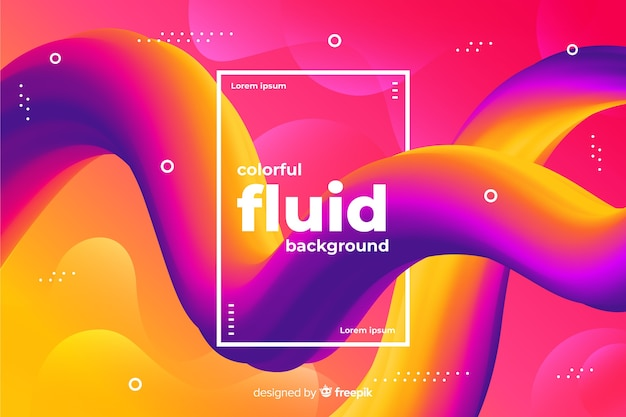 Gradient fluid shapes background