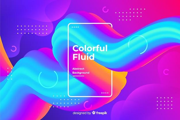 Gradient fluid shapes background