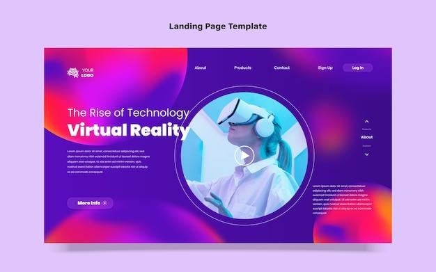 Gradient fluid technology landing page