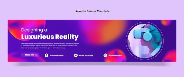Gradient fluid technology linkedin banner
