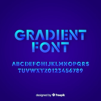 Gradient font template flat design