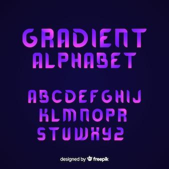 Gradient font template flat design
