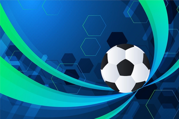 グラデーションサッカーの背景