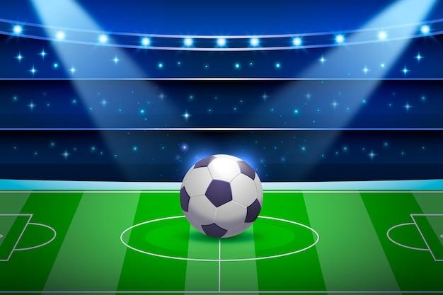 グラデーションサッカー場の背景