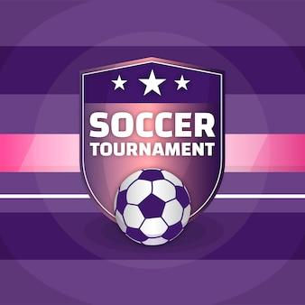 Gradient football tournament illustration