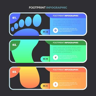 Gradient footprint infographics