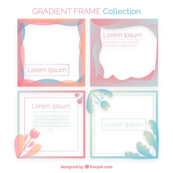 Gradient frame collection