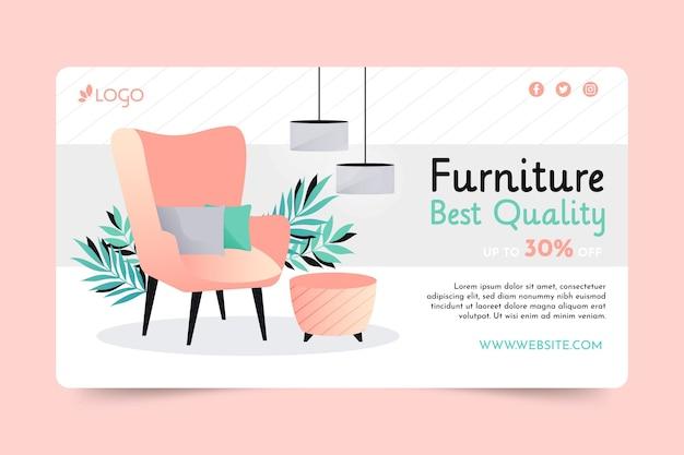 Gradient furniture sale banner