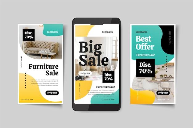 グラデーション家具販売インスタグラムストーリーコレクション