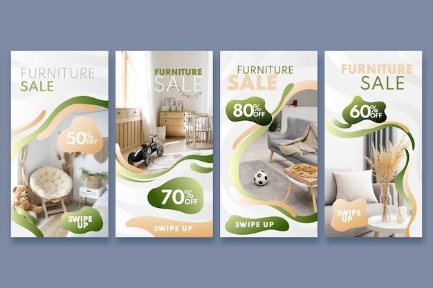 Коллекция историй продажи градиентной мебели в instagram