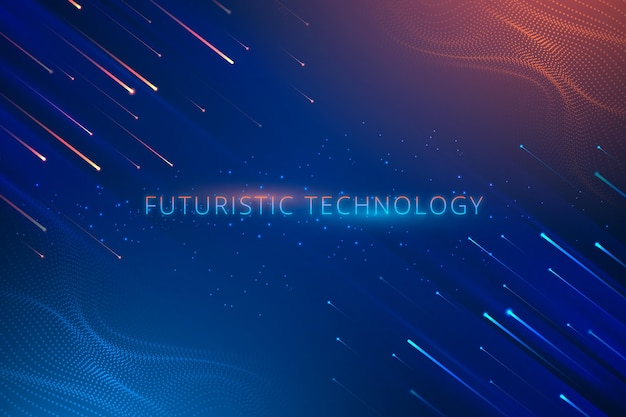 Gradient futuristic background with connection concept