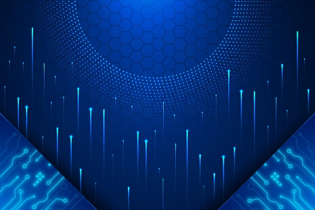 Sfondo futuristico sfumato con concetto di connessione