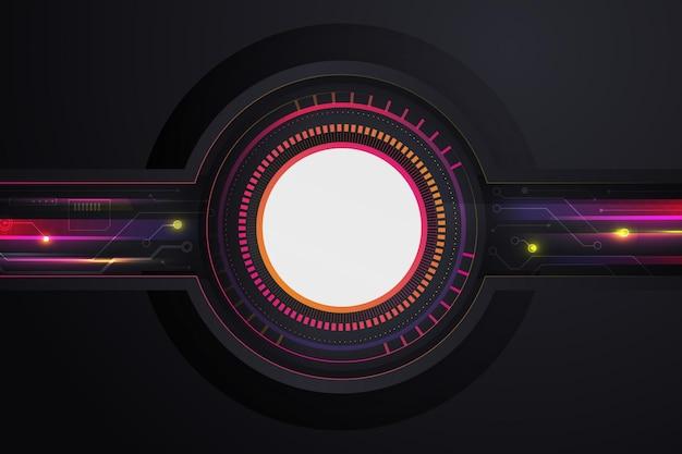 グラデーションの未来的な明るい背景
