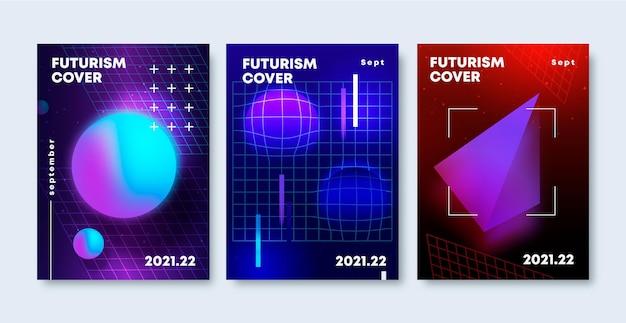 Collezione di copertine futuristiche sfumate