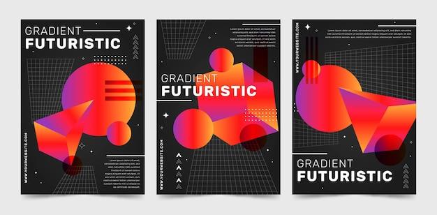 グラデーションの未来的なカバーコレクション