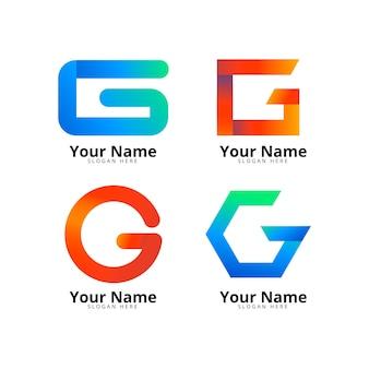 Gradient g letter logo pack