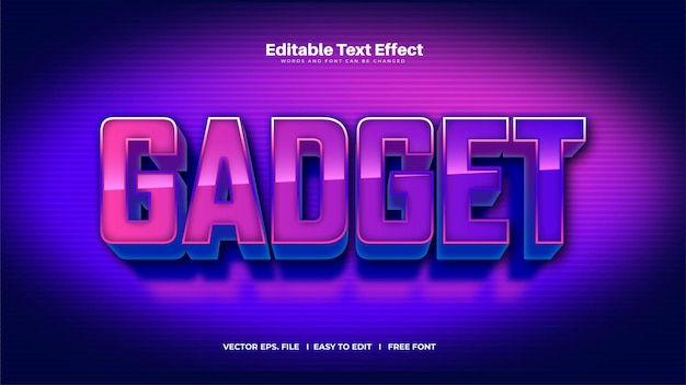 Gradient gadget text effect