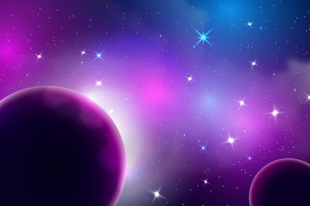 星とグラデーション銀河の背景