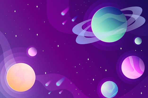 Gradient galaxy background