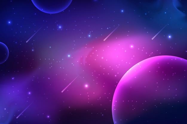 勾配銀河の背景