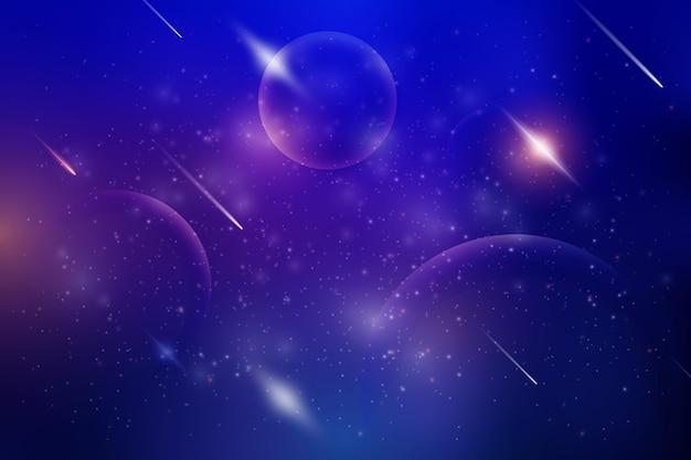 星の背景を持つ勾配銀河