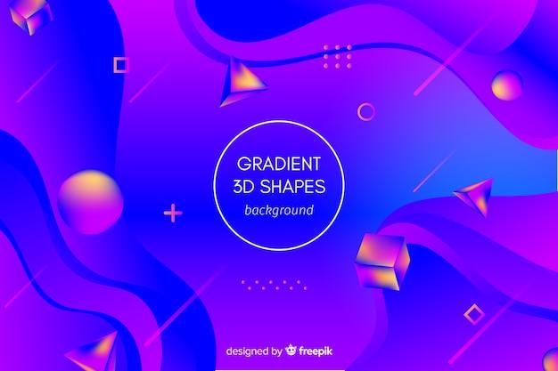 Gradient geometric 3d shapes background