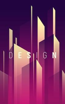 Градиент геометрический абстрактный фон, красочная минимальная обложка