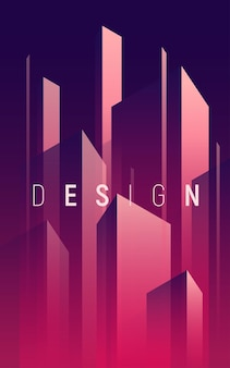 Gradient geometric abstract background, colorful minimal cover