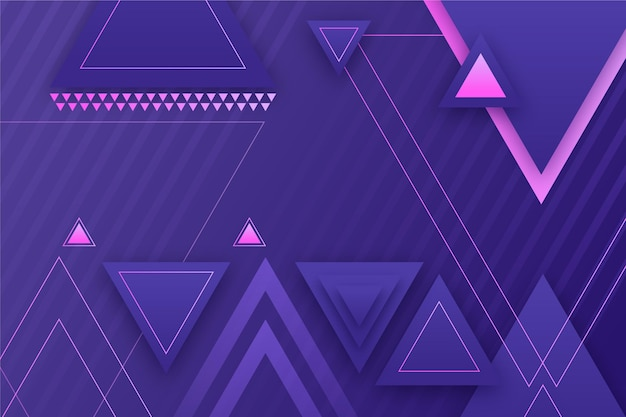 Gradient geometric background with triangular shapes
