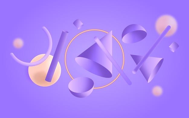 Градиент геометрического фона