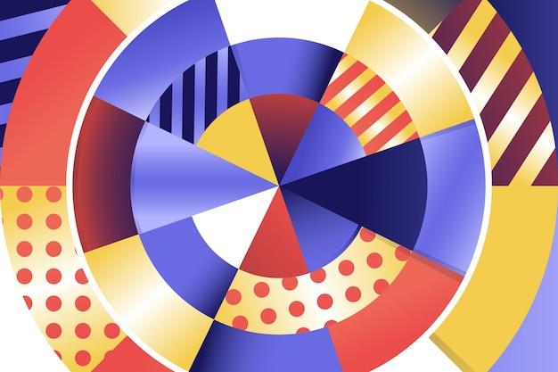 Gradient geometric background Free Vector