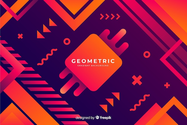 Gradient geometric background