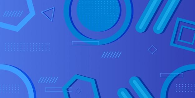 Градиент геометрическая форма задний синий цвет