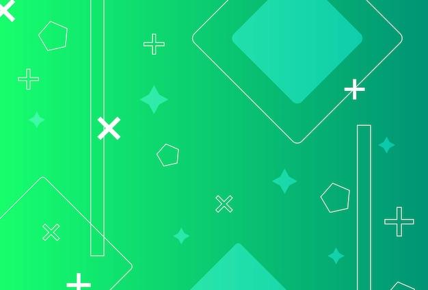 グラデーションの幾何学的形状の背景緑青