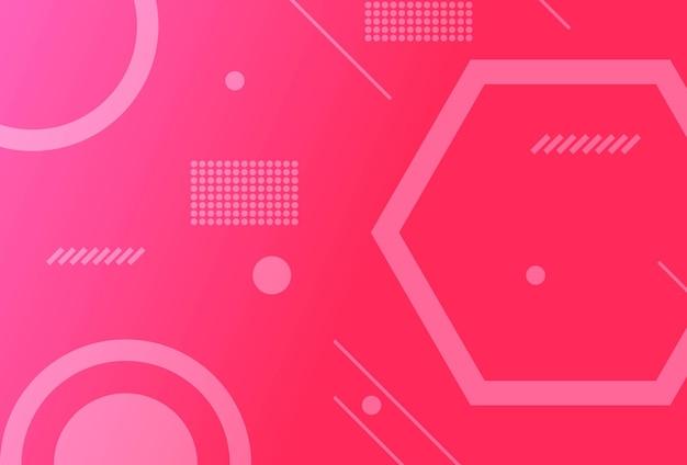 グラデーションの幾何学的形状の背景ピンクホワイト