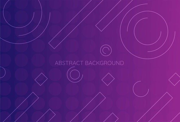 グラデーションの幾何学的形状の背景紫青