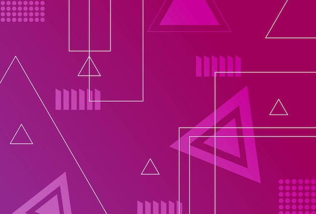 グラデーションの幾何学的形状の背景紫