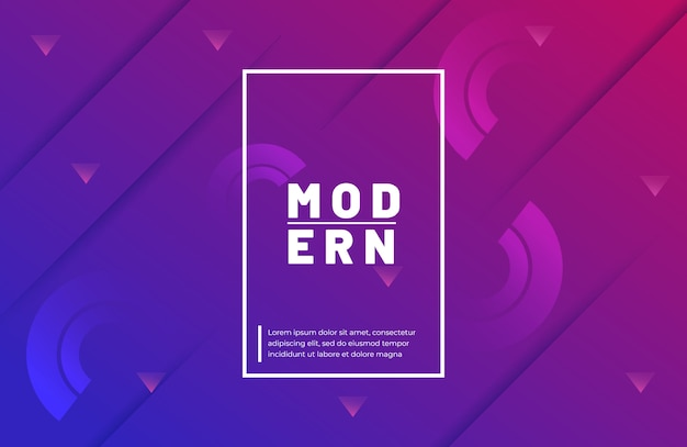 Gradient geometric shape background with vibrant color