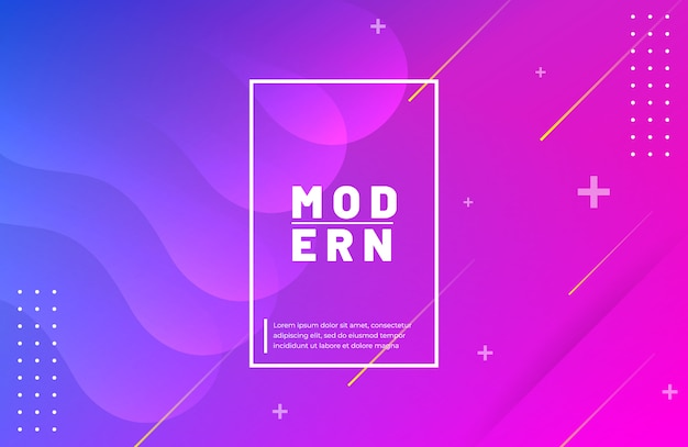 Gradient geometric shape background with wavy element