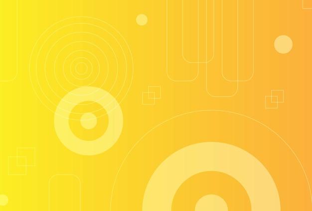 グラデーションの幾何学的形状の背景黄色