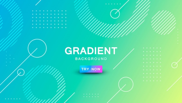 Gradient geometric shape background