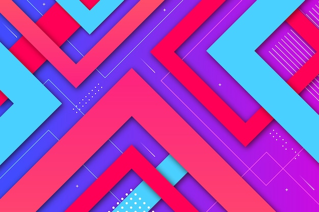 Gradient geometric shapes background
