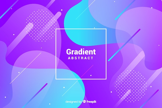 Gradient geometric shapes background