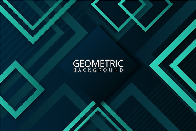 Gradient geometric shapes on blue background