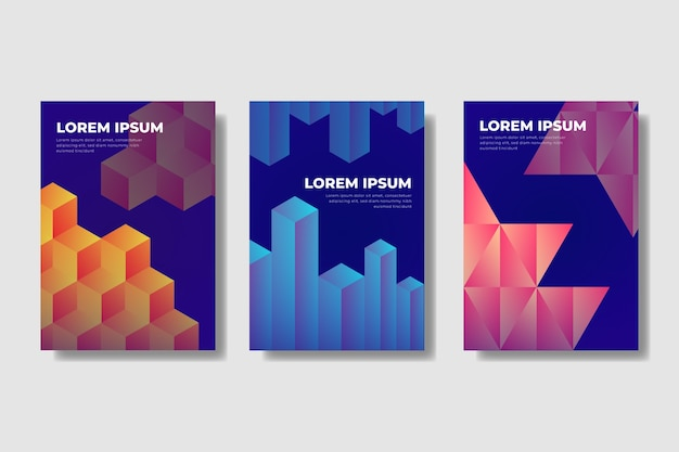 Gradient geometric shapes covers
