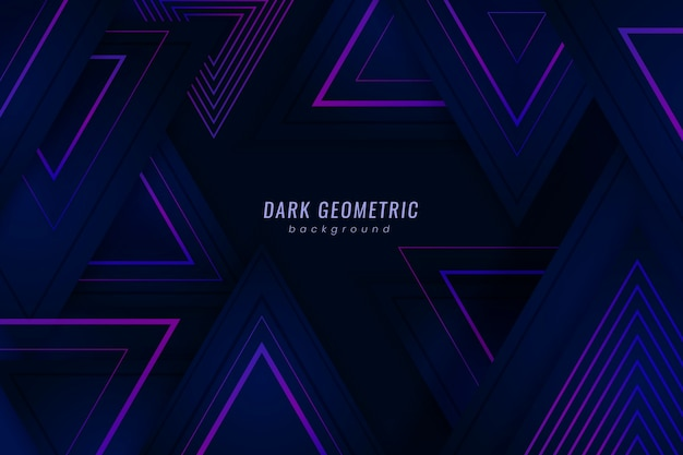 Gradient geometric shapes on dark background